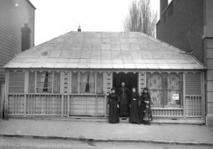 Nelson Institute original premises, when building was occupied by Mrs Cooper.