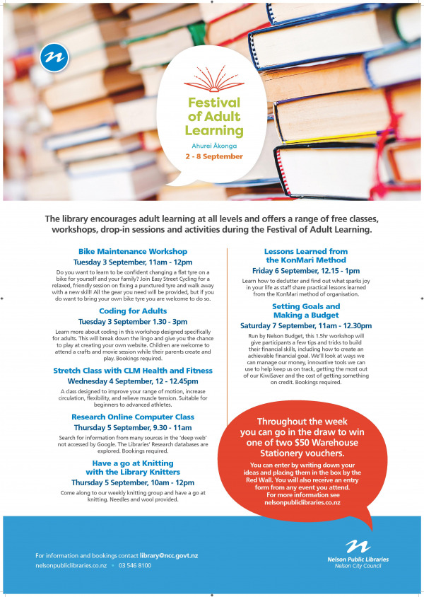 17520 NPL Adult Learning Festival Aug19 Programme A1 Print Ready page 001