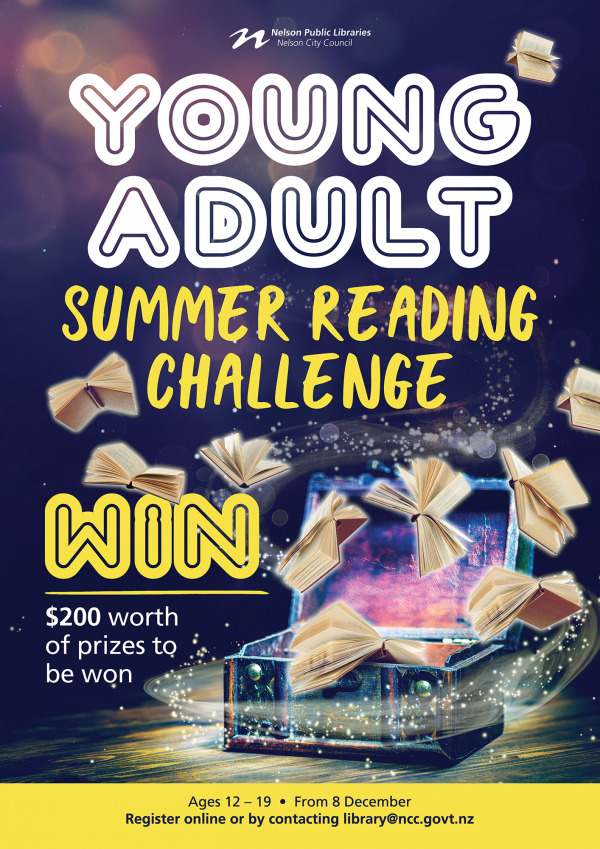 NCC Libraries Young Adults Summer Reading A3 Poster Nov18 FACEBOOK