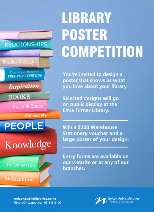 6271d009b8f3 Competition To Design The Next Library Poster - Nelson Public Libraries